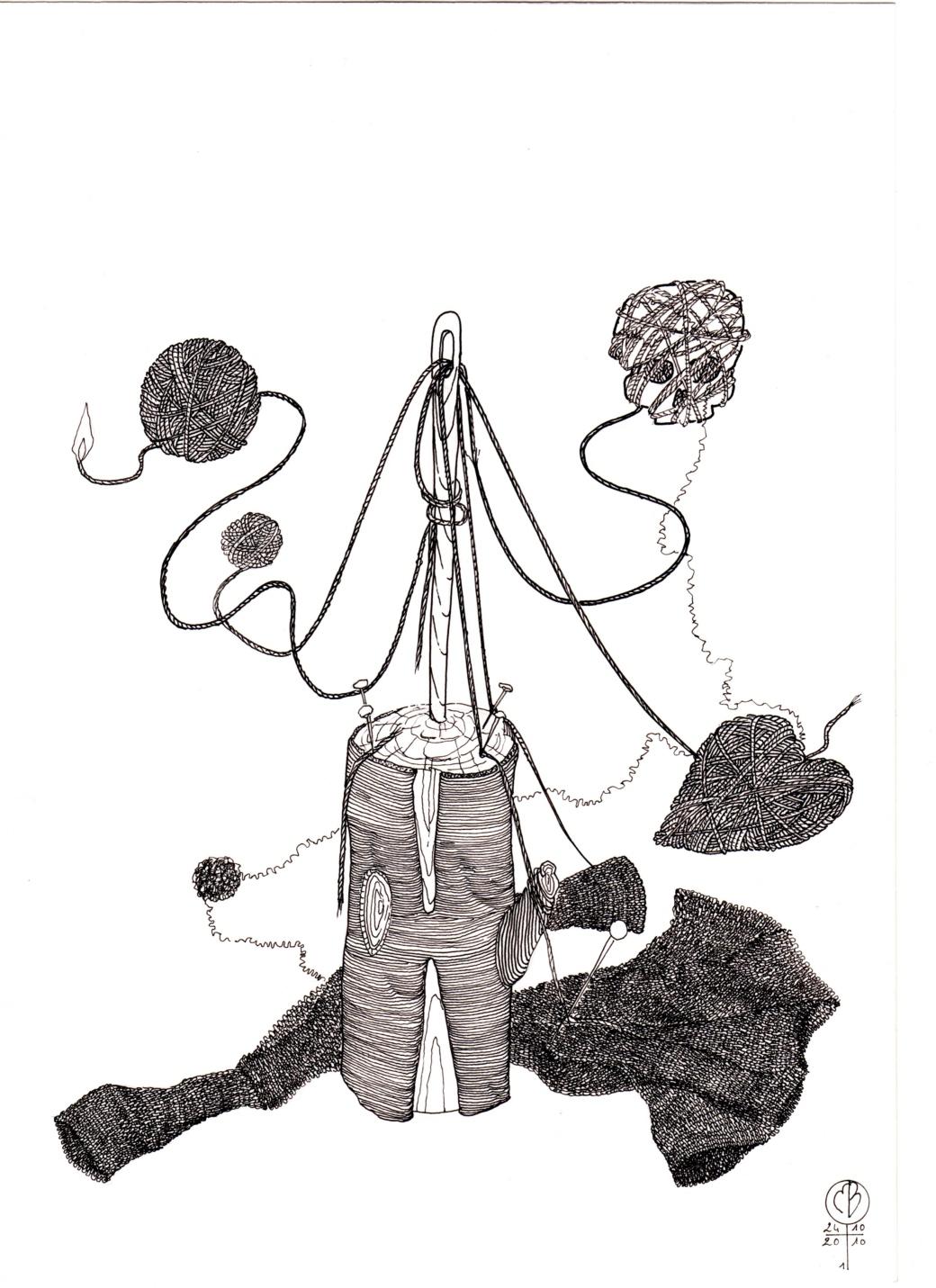 "Dessin de la série ""Foi d'animale"" (n°2)"